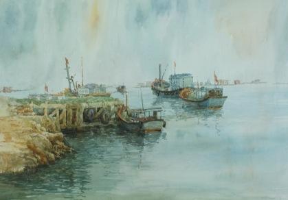 Binh Ba Island. Watercolor on cold press paper. 42cmx60cm