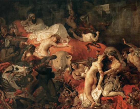 """The Death of Sardanapalus"" by Eugène Delacroix (1827)"