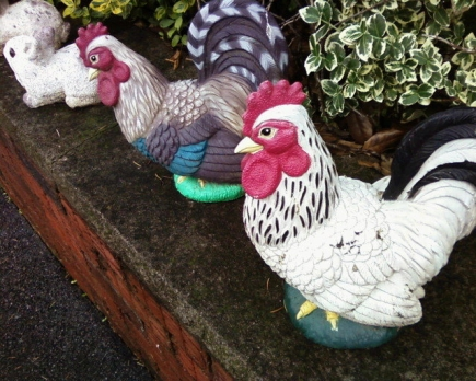 Ceramic Chickens, Yonkers, NY 19may19